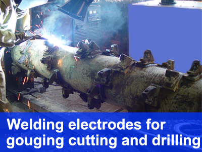 welding electrodes for gouging cutting and drilling